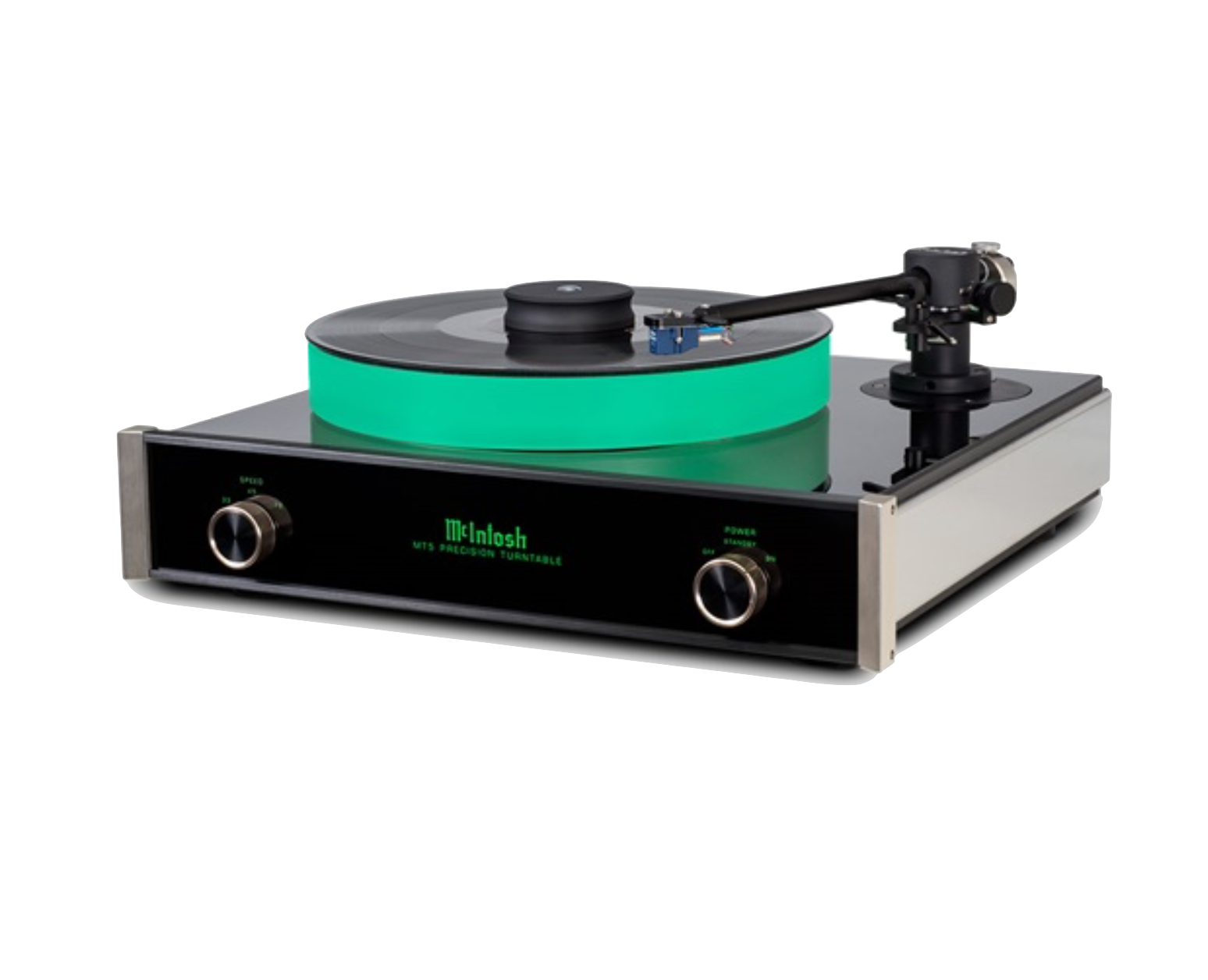 While maintaining complementary McIntosh styling, the MT5 takes full advantage of the chassis materials used to suppress noise, resonance and coloration so the only sound produced is that which is on your records. A clear, form-fitting dust cover is included to protect the MT5's moving parts, along with your valued records.