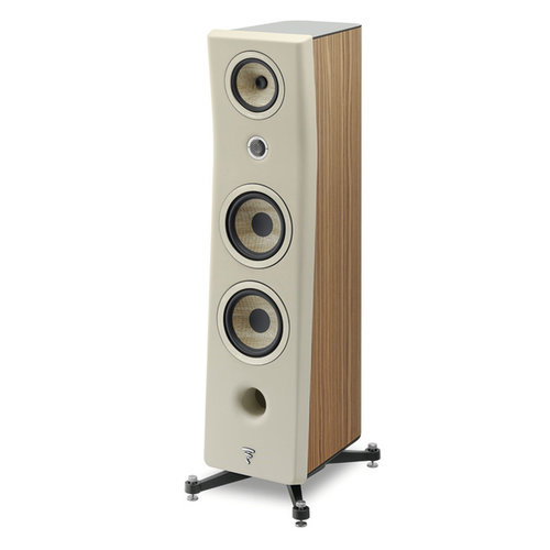 Focal Kanta 3 in walnut and matt ivory finish from basil audio