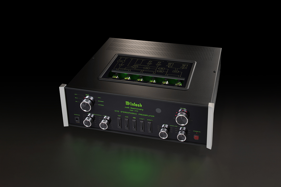 McIntosh Vacuum Tube Stereo Preamplifier • 70th Anniversary Model with anniversary markings