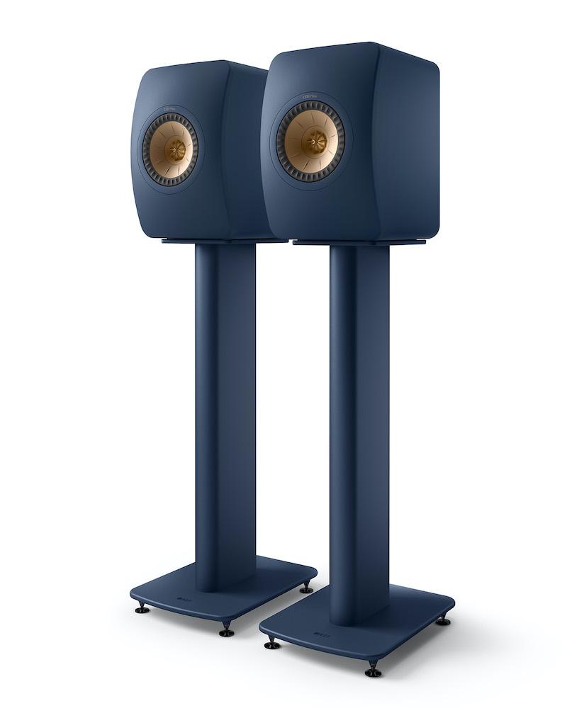 KEF S2 Royal Blue Speaker Stand from Basil Audio